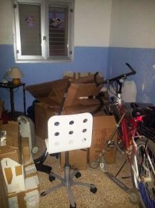 Das vierte Zimmer diente als Speicher fuer leere Kartons und andere Sachen, die wir gerade nicht brauchten.